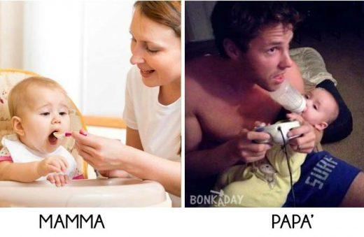 come si differenziano mamme e papà