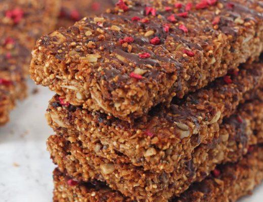 Barrette di quinoa per merenda sana